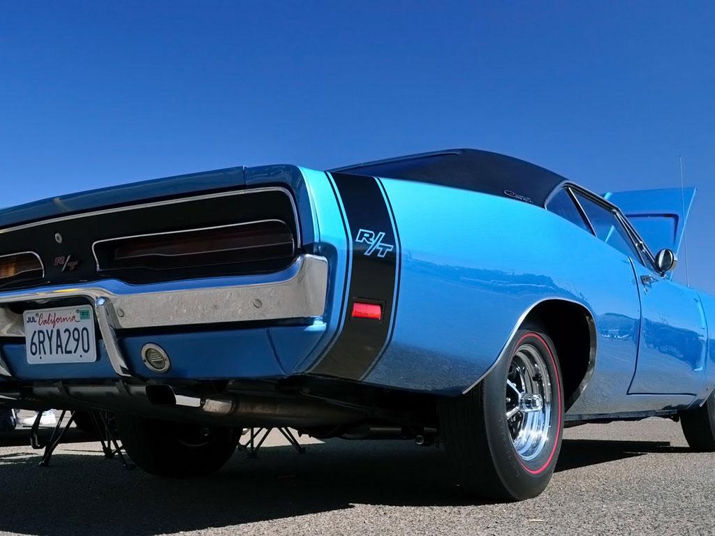 Blue Dodge RT - Muscle car