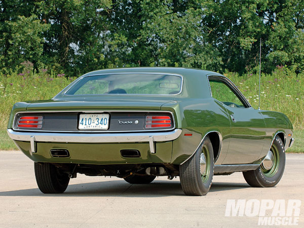 Plymouth Barracuda 440 Hardtop 1970 Ivy Green